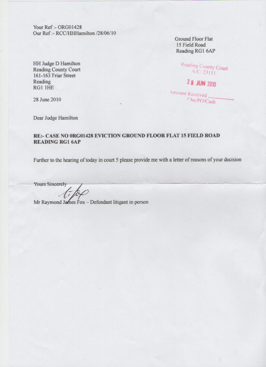 Eviction Notice Letter Template ray fox eviction rccourt hh leaJ5nfa